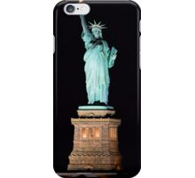 Lady Liberty at night iPhone Case/Skin