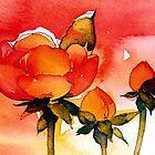 red rose by doodlesdaddles
