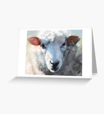 Winter sheep face, Romney Marsh Greeting Card