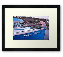 Rocky Places Nova Scotia Canada Framed Print