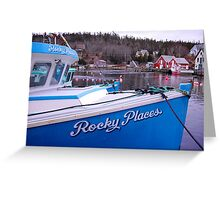 Rocky Places Nova Scotia Canada Greeting Card