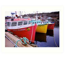Fishing Harbour ~ Nova Scotia Canada Art Print