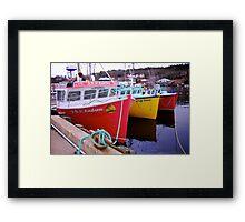 Fishing Harbour ~ Nova Scotia Canada Framed Print