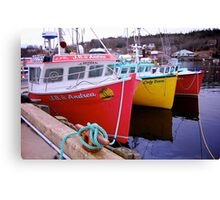 Fishing Harbour ~ Nova Scotia Canada Canvas Print