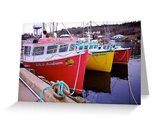 Fishing Harbour ~ Nova Scotia Canada Greeting Card