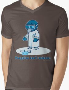 Penguins can't science. Mens V-Neck T-Shirt