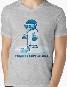 Penguins can't science. Mens V-Neck T-Shirt