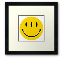 Funny eyes  - Comic smiley  Framed Print