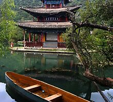 Black Dragon Pool  - Lijiang China by Malcolm Roberts