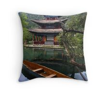 Black Dragon Pool  - Lijiang China Throw Pillow