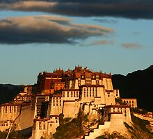 Potala Palace in Lhasa at dawn by Malcolm Roberts