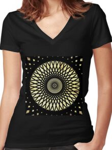 Glyphs In The Sand Women's Fitted V-Neck T-Shirt