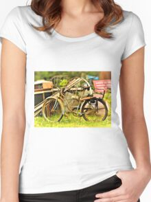 Old Bike Women's Fitted Scoop T-Shirt