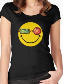 Transmetro trippy - Comic mashup Women's Fitted Scoop T-Shirt
