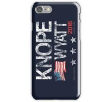 Knope Wyatt Distressed  iPhone Case/Skin