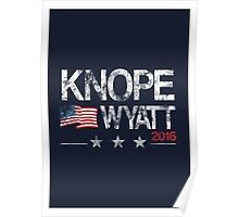 Knope Wyatt Distressed  Poster