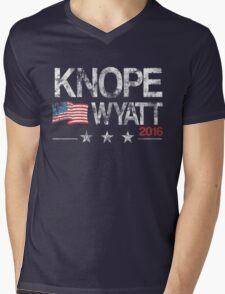 Knope Wyatt Distressed  Mens V-Neck T-Shirt