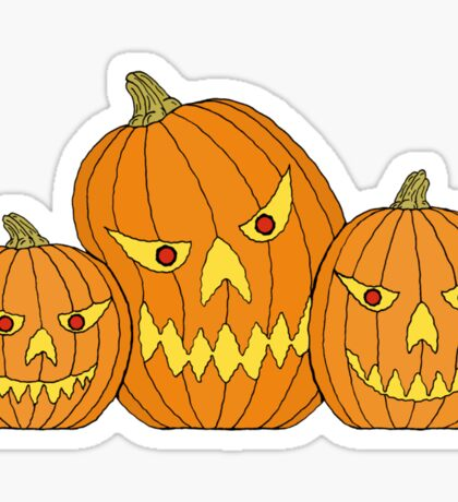 Creepy Jack-o-Lantern Trio Sticker