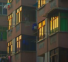Lit Windows - Hengyang, China by AlliD