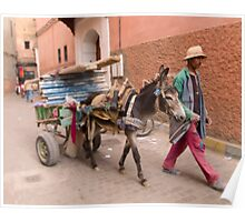 A Moroccan Worker & His Donkey Poster