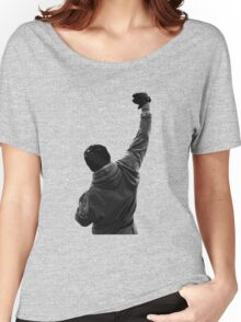 Never give UP! Rocky Balboa Women's Relaxed Fit T-Shirt