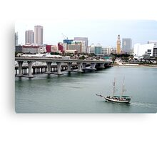 Miami Harbor Canvas Print