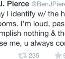 ben j pierce tweet Sticker