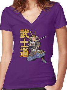 Bushido Women's Fitted V-Neck T-Shirt