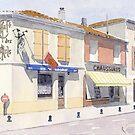 Café des Arts, Montbron, France by ian osborne