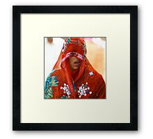 Candid Expression-Colors of Rajasthan Framed Print