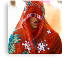 Candid Expression-Colors of Rajasthan Canvas Print
