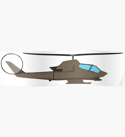 Army Helicopter, Design Poster