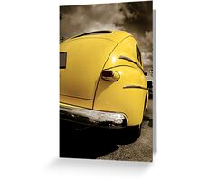 Yellow Classic Car Greeting Card
