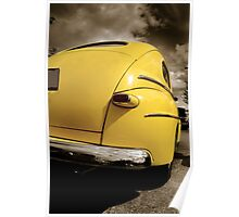 Yellow Classic Car Poster
