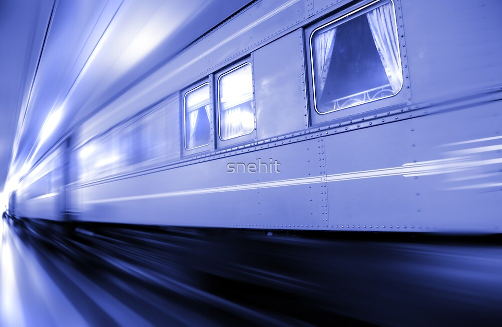 Fast Moving Train by snehit