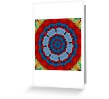 Primary Colours Parasol Kaleidoscope Greeting Card