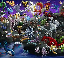 Pokemon: Gathering of Legends - poster/print by ChevreLune