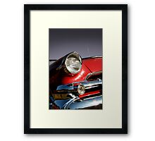 Red muscle car Framed Print
