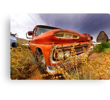 Old abandoned car Canvas Print