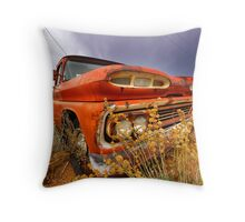 Old abandoned car Throw Pillow