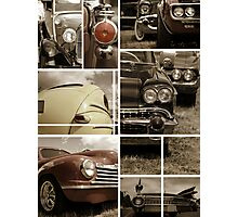 Classic car collage Photographic Print