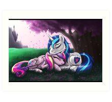 Cadence and Shining Armor - print/poster Art Print