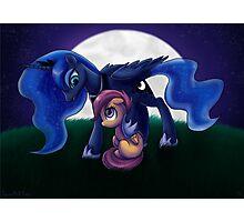 Sleepless - Luna and Scootaloo print/poster Photographic Print