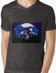 Sleepless - Luna and Scootaloo print/poster Mens V-Neck T-Shirt