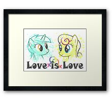 Lyra and Bonbon - Love is Love t-shirt/hoodie Framed Print