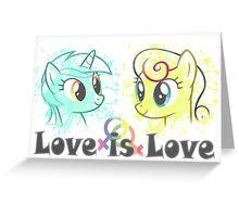 Lyra and Bonbon - Love is Love t-shirt/hoodie Greeting Card