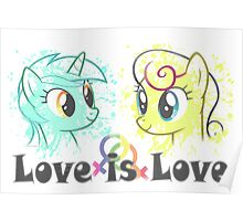 Lyra and Bonbon - Love is Love t-shirt/hoodie Poster