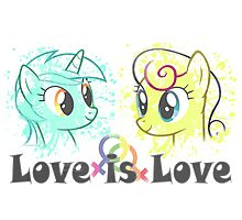 Lyra and Bonbon - Love is Love t-shirt/hoodie Photographic Print