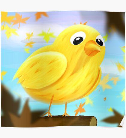 Sad bird Poster