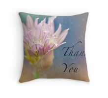 Winter Chive Thank You Card Throw Pillow